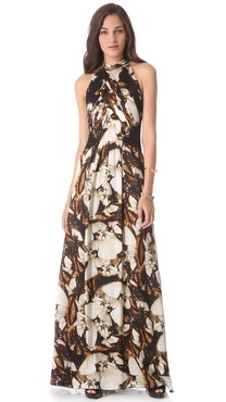 PHILOSOPHY Butterfly Print Gown