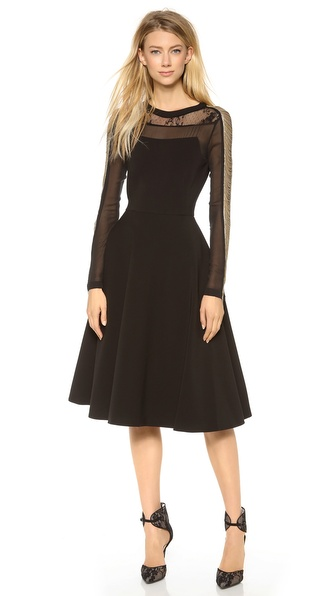 PHILOSOPHY Dress with Detailed Sleeves