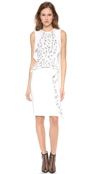PHILOSOPHY Sleeveless Embroidered Dress