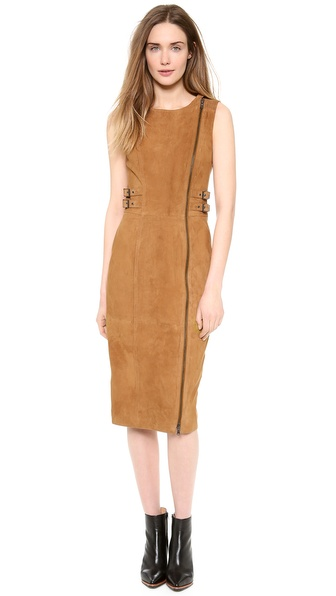 PHILOSOPHY Sleeveless Suede Dress