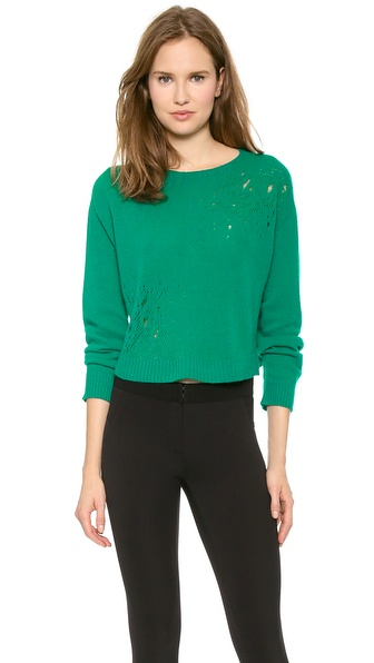 PHILOSOPHY Cropped Pointelle Sweater