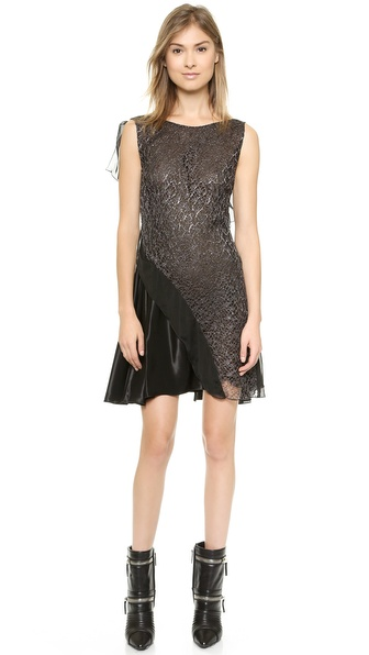 Kupi PHILOSOPHY haljinu online i raspordaja za kupiti Philosophy Sleeveless Lace Dress Black online