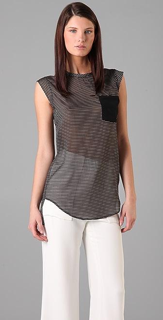 3.1 Phillip Lim Striped Pocket Top
