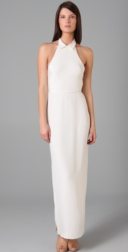 3.1 Phillip Lim Shirt Collar Halter Gown