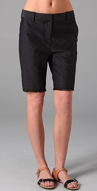 3.1 Phillip Lim Bermuda Shorts with Fringe Hem