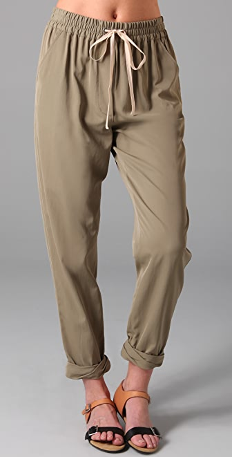 3.1 Phillip Lim Drawstring Trousers with Twist Cuffs
