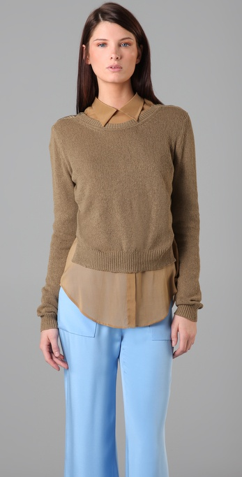 3.1 Phillip Lim Drape Back Sweater
