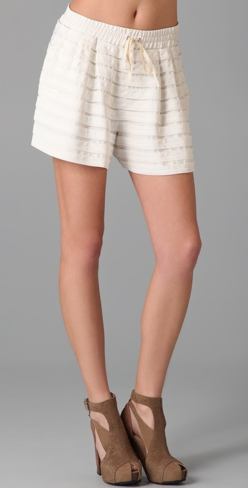 3.1 Phillip Lim Floating Stripe Drawstring Shorts