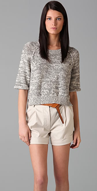 3.1 Phillip Lim Short Sleeve Knit Top