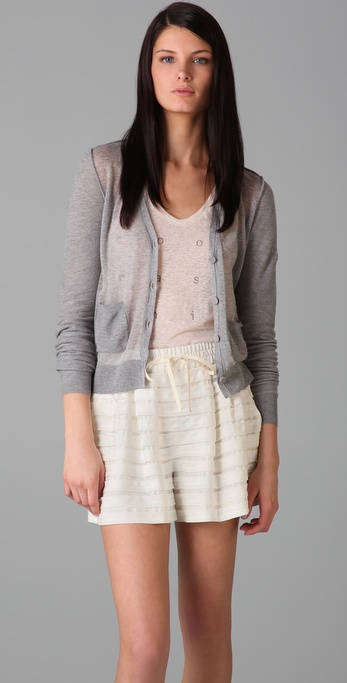 3.1 Phillip Lim Sheer Front Panel Cardigan