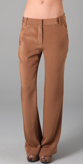 3.1 Phillip Lim Flat Front Cuffed Flare Trousers