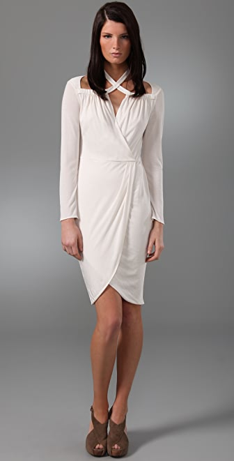 3.1 Phillip Lim Cross Collar Faux Wrap Dress