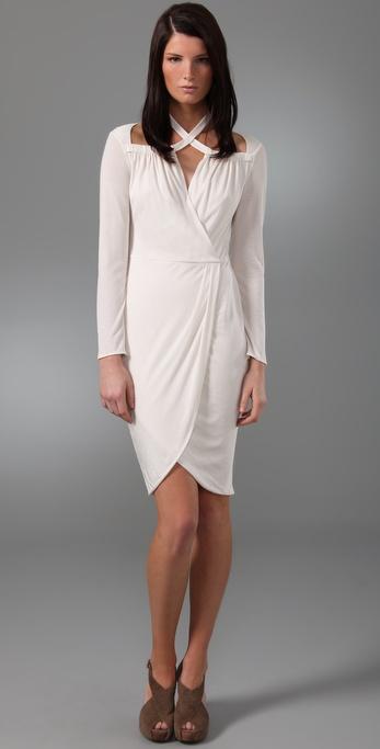 3.1 Phillip Lim Cross Collar Faux Wrap Dress