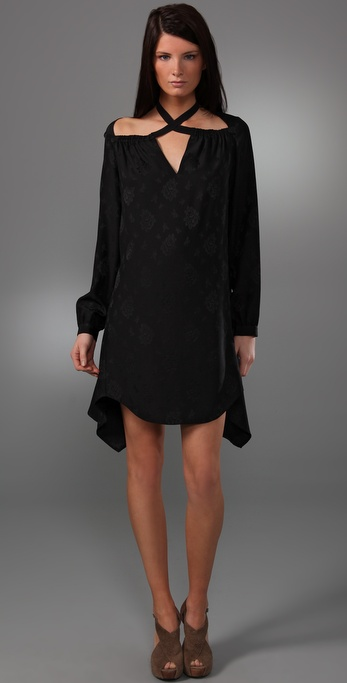 3.1 Phillip Lim Cross Collar Long Sleeve Dress