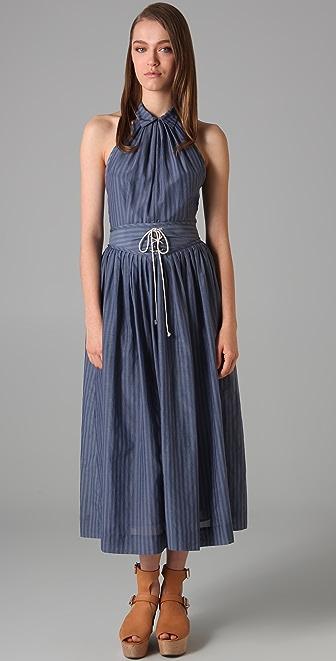3.1 Phillip Lim Lace Up Halter Dress
