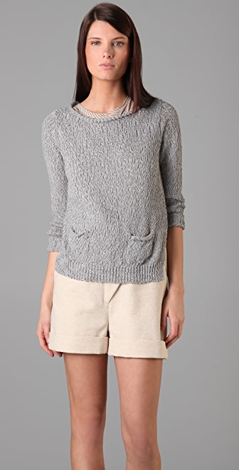 3.1 Phillip Lim Pullover Sweater with Cropped Back