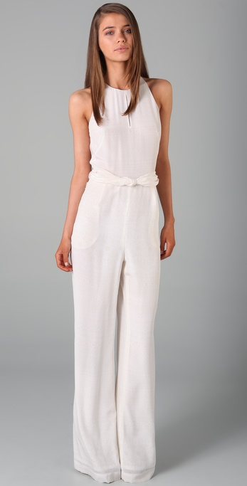 3.1 Phillip Lim Sleeveless Illusion Jumpsuit