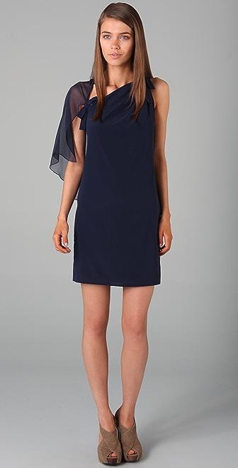 3.1 Phillip Lim Sleeveless Asymmetrical Cape Dress