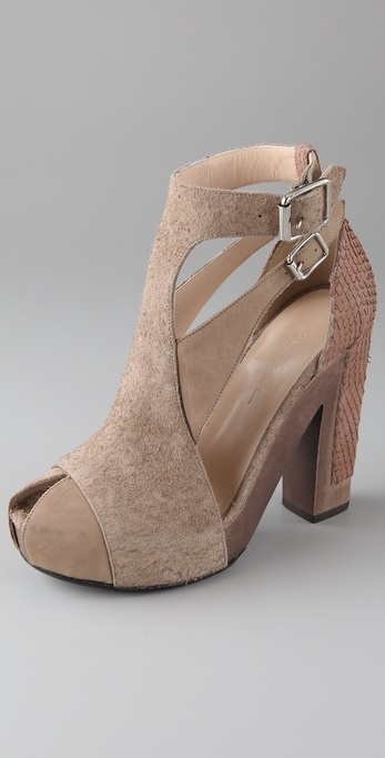 3.1 Phillip Lim Brancusi Wood Platform Booties