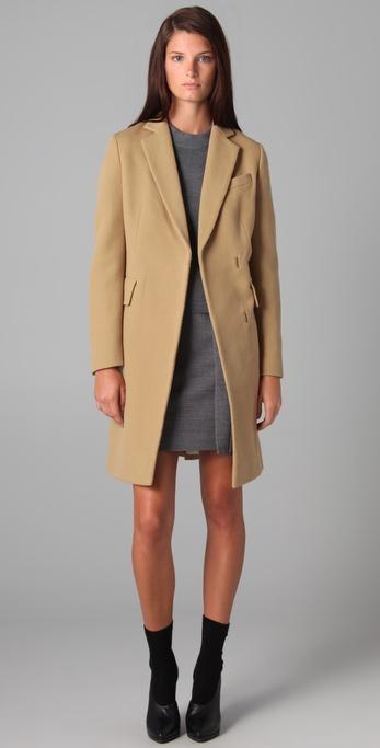 3.1 Phillip Lim Long Coat with Detachable Scarf