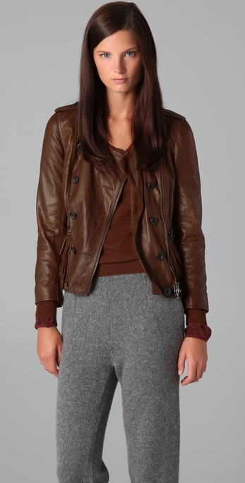 3.1 Phillip Lim Ruffle Leather Jacket