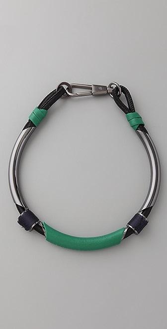 3.1 Phillip Lim Single Leather Circuit Collar Necklace