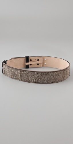3.1 Phillip Lim Cummerbund Haircalf Waist Belt
