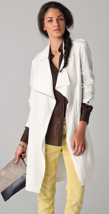 3.1 Phillip Lim Biker Trench Coat