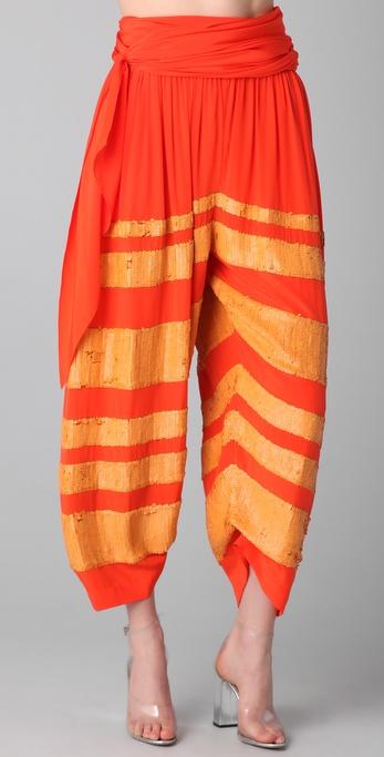 3.1 Phillip Lim Waist Tie Sequin Gaucho Pants