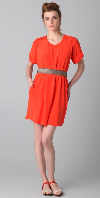 3.1 Phillip Lim Pleated Shoulder A Line Dress