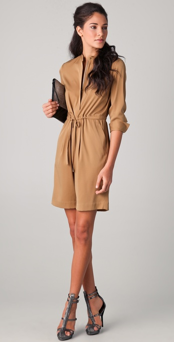 3.1 Phillip Lim Knee Length Romper with Drawstring Waist