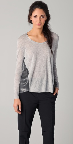 3.1 Phillip Lim Metallic Combo Sweater