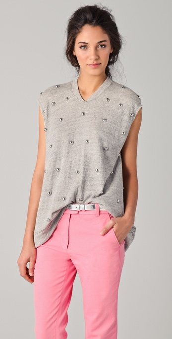 3.1 Phillip Lim Sleeveless Studded Top