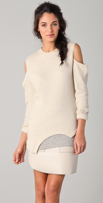 3.1 Phillip Lim Cutout Shoulder Sweatshirt Top