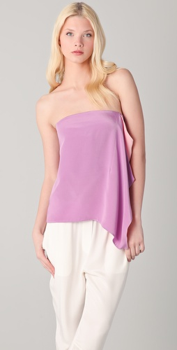 3.1 Phillip Lim Strapless Draped Combo Top