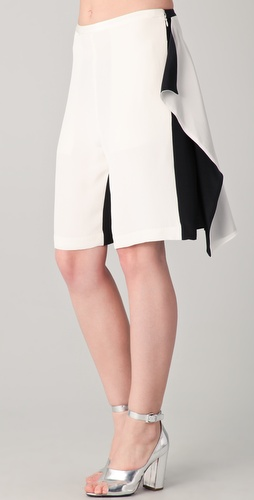 3.1 Phillip Lim Convertible Draped Culotte Shorts