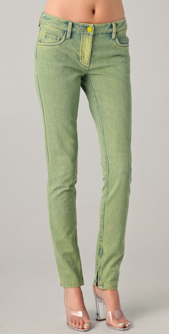 3.1 Phillip Lim Slim Fit Acid Wash Jeans