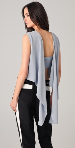 3.1 Phillip Lim Open Back Kite Tail Top