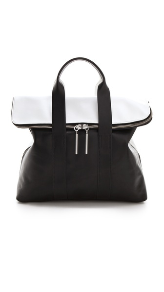 3.1 Phillip Lim 31 Hour Bag - White/Black at Shopbop