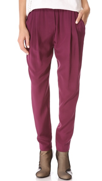 3.1 Phillip Lim Draped Pocket Trousers - Berry at Shopbop
