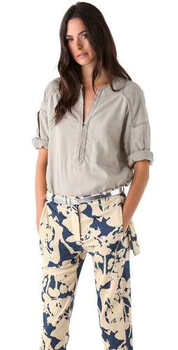 3.1 Phillip Lim Henley Blouse with Dropped Sleeves