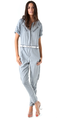 3.1 Phillip Lim Flight Suit with Pleated Sleeves