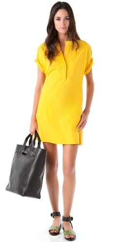 3.1 Phillip Lim Short Sleeve Henley Dress