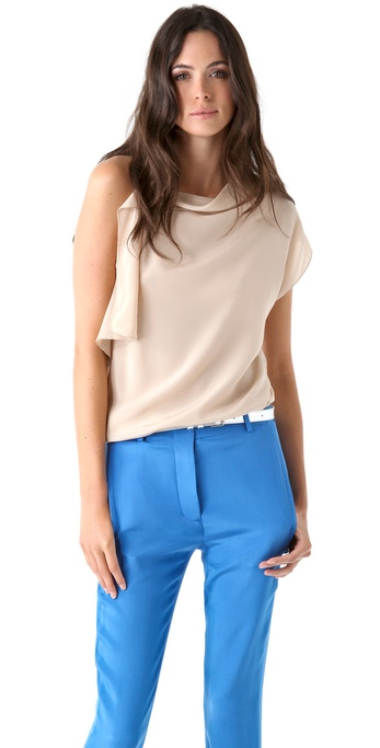 3.1 Phillip Lim Asymmetrical Top with Chiffon Back