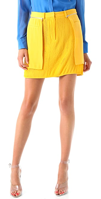3.1 Phillip Lim Layered Miniskirt with Pintucks