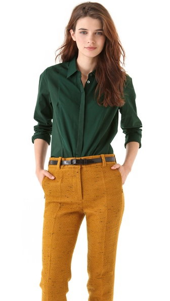3.1 Phillip Lim Chiffon Bib Blouse