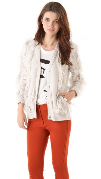 3.1 Phillip Lim Fringe Intarsia Cardigan