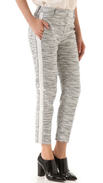 3.1 Phillip Lim Notch Detail Crop Trousers