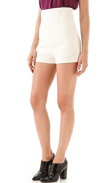 3.1 Phillip Lim High Waisted Corset Shorts