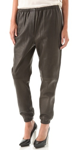 3.1 Phillip Lim Leather Sweatpants at Shopbop.com